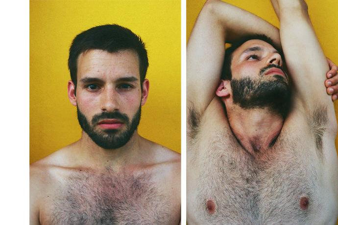 006d96GTgy1ft3q8lfuf1j30j60csjt4 - Portraits at home by James Barnett, a series against yellow黄色背景的艺术