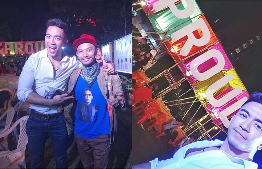 Okkar Min Maung attends pride in Myanmar last year - 缅甸天菜出柜男艺人获同志英雄奖,唿吁同志:自由做自己,为自己站出来