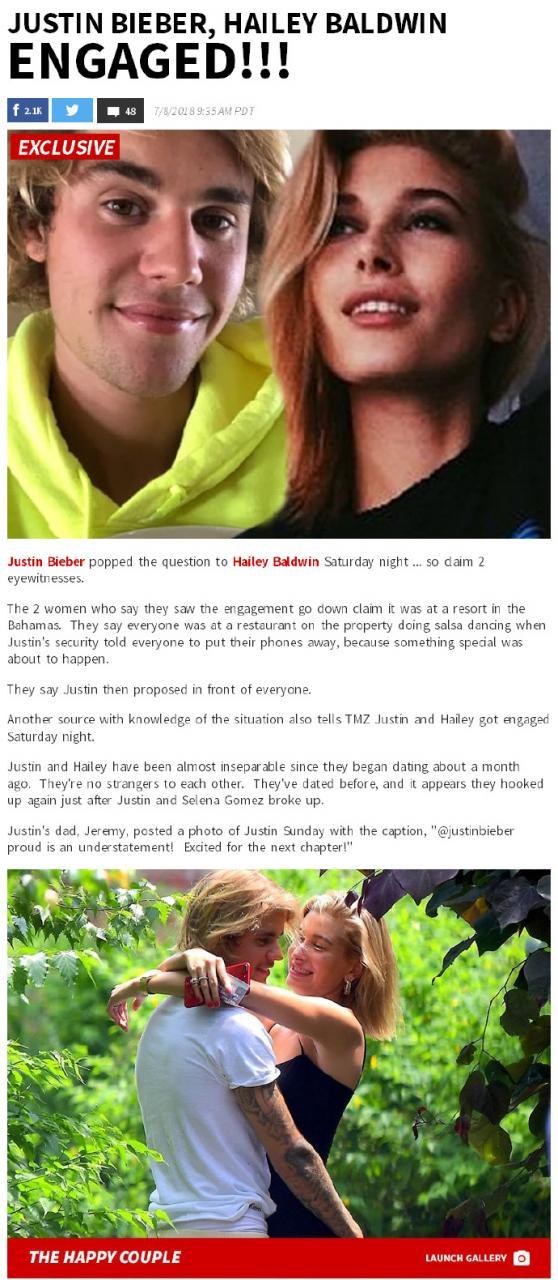 a67388a0ly1ft2y0f7dpej20kr1bj7wh - Justin Bieber比伯和海狸Hailey Baldwin订婚了!